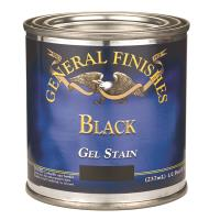 General Finishes Gel Stain Black 1/2 pint