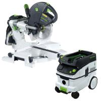 Festool KS 120 Dual Compound Sliding Miter Saw w/out T-LOC   CT 26 Dus