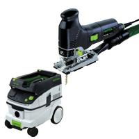 Festool PS 300 EQ Jigsaw with T-LOC   CT 26 Dust Extractor Package