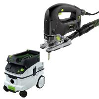 Festool PSB 300 EQ Jigsaw with T-LOC   CT 26 Dust Extractor Package
