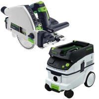 Festool TS 55 REQ Plunge-Cut Saw with T-Loc plus CT 26 Dust Extractor
