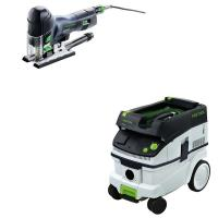 Festool Carvex PS 420 EBQ Plus Jigsaw with T-LOC   CT 26 Dust Extracto