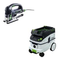 Festool Carvex PSB 420 EBQ Plus D-Handle Jigsaw    CT 26 Dust Extracto
