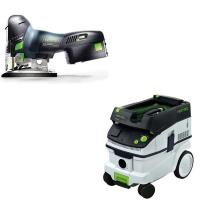 Festool Carvex PSC 420 EB Jigsaw with T-LOC   CT 26 Dust Extractor Pac