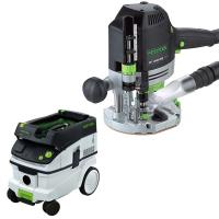 Festool OF 1400 EQ Router with T-LOC   CT 26 Dust Extractor Package