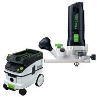 Festool MFK 700 Eq Trim Router with T-LOC   CT 26 Dust Extractor Packa
