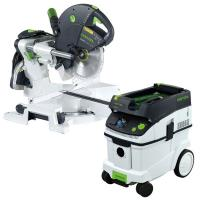 Festool KS 120 Dual Compound Sliding Miter Saw w/out T-LOC   CT 36 Dus
