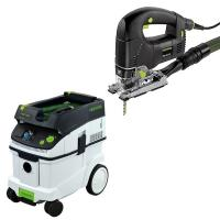 Festool PSB 300 EQ Jigsaw with T-LOC   CT 36 Dust Extractor Package
