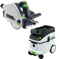 Festool TS 55 REQ Plunge-Cut Saw with T-Loc plus CT 36 Dust Extractor