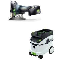 Festool Carvex PSC 420 EB Jigsaw with T-LOC   CT 36 Dust Extractor Pac