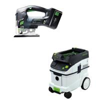Festool Carvex PSBC 420 EB Jigsaw with T-LOC   CT 36 Dust Extractor Pa