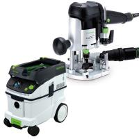Festool OF 1010 EQ Router with T-LOC   CT 36 Dust Extractor Package