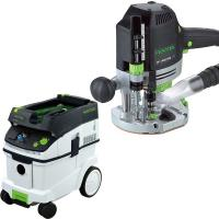 Festool OF 1400 EQ Router with T-LOC   CT 36 Dust Extractor Package