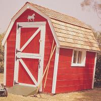 Woodworking Project Paper Plan to Build Little Red Barn Plan No. 461