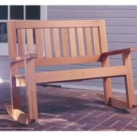 Woodworking Project Paper Plan to Build Double Porch Rocker Plan No. 9