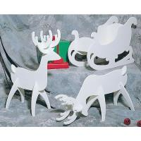 Woodworking Project Paper Plan to Build White Reindeer and Sleigh Plan