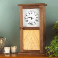 Woodworking Project Paper Plan to Build Shaker Clock