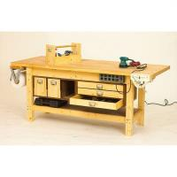 Downloadable Woodworking Project Plan to Build Basic Workbench and 6 W