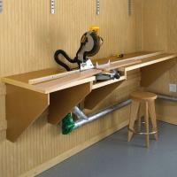 Woodworking Project Paper Plan to Build On-the-Mark Mitersaw Station