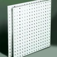 Steel Square Hole Peg Board (2) White 24