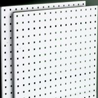 Steel Square Hole Peg Board (2) White 42-1/2