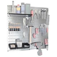Wall Control Steel Pegboard Galvanized Utility Tool Storage Kit with B