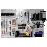 Wall Control Steel Pegboard Standard Workbench Kit in Gray with Black