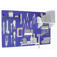 Wall Control Steel Pegboard Standard Workbench Kit in Blue with White
