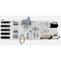 Wall Control Steel Pegboard Master Workbench Kit in White with Black A