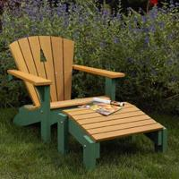 Woodworking Project Paper Plan to Build Adirondack Chair and Footstool