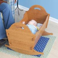 Woodworking Project Paper Plan to Build Heirloom Cradle with Storage B