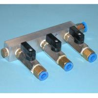3-Port Manifold for Vacuum Pump Billet Aluminum Anodized 1/4