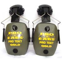 Pro TEKT Slim Gold Electronic Hearing Protection with Hard Hat Adaptor
