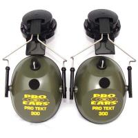 Pro TEKT 300 Electronic Hearing Protection with Hard Hat Adaptor  Gree
