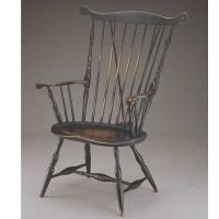 Woodworking Project Paper Plan to Build Fan Back Windsor Arm Chair AFD