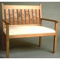 Woodworking Project Paper Plan to Build Iris Love Seat AFD117