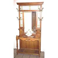 Woodworking Project Paper Plan to Build Antique Hall Tree AFD155