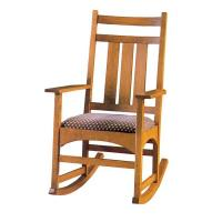 Woodworking Project Paper Plan to Build Mission Style Rocking Chair AF