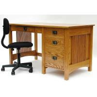 Woodworking Project Paper Plan to Build Mission Style Student's Desk A