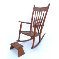 Woodworking Project Paper Plan to Build Nancy's Rocker and Footstool A