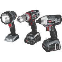 Porter-Cable 18V Lithium 3 Tool Combo Kit Model PCL318IDC-2