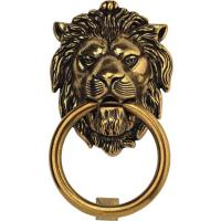 Bosetti Marella Brass Lion Door Knocker Antique Brass Light Finish 4.2