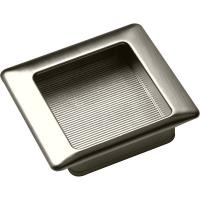Marella Forme Series Recessed Pull Brushed Nickel Finish 2.68