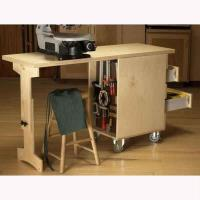 Downloadable Woodworking Project Plan to Build Shop Cart/Workbench