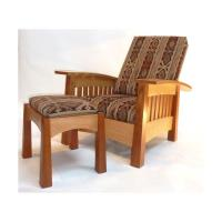 Woodworking Project Paper Plan to Build California West Arm Chair AFD4