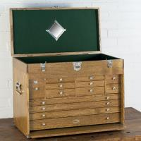 Ultimate USA Treasure Chest and Base Set in Quarter Sawn Golden Oak