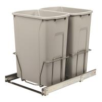 Real Solutions Double 35qt Pull-out Waste and Recyling Unit Platinum