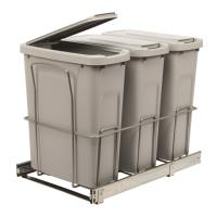 Real Solutions Triple 20qt Pull-out Waste and Recyling Unit with Lid P