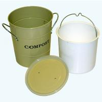 2-N-1 Kitchen Compost Bucket Oatmeal Model CPBS01