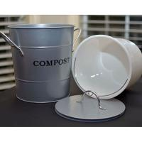 2-N-1 Kitchen Compost Bucket Silver Model CPBS04